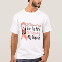 I Wear Peach For The Hero in My Life...My Daughter T-Shirt