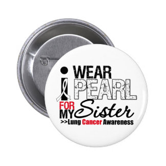 I Wear Peach Ribbon For My Sister Pinback Button