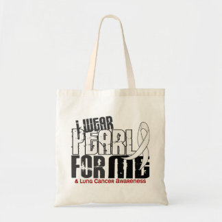 I Wear Pearl For Me 6 Lung Cancer Tote Bags