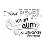 I Wear Pearl For My Aunt 42 Lung Cancer Post Cards