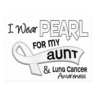 I Wear Pearl For My Aunt 42 Lung Cancer Postcard