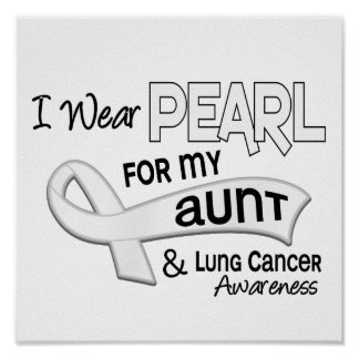 I Wear Pearl For My Aunt 42 Lung Cancer Poster