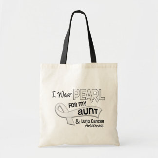 I Wear Pearl For My Aunt 42 Lung Cancer Tote Bag