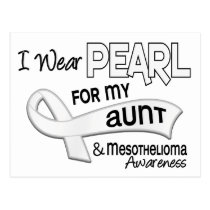 I Wear Pearl For My Aunt 42 Mesothelioma Postcard