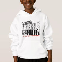 I Wear Pearl For My Aunt 6.4 Lung Cancer Hoodie
