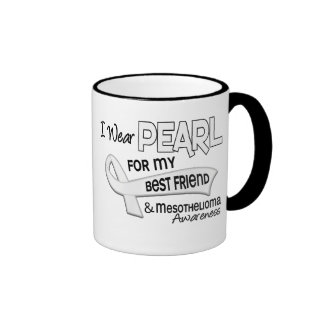 I Wear Pearl For My Best Friend 42 Mesothelioma Ringer Mug