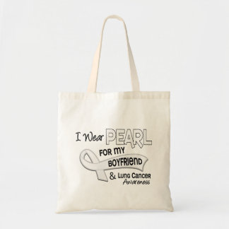 I Wear Pearl For My Boyfriend 42 Lung Cancer Tote Bag