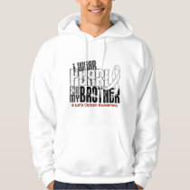 I Wear Pearl For My Brother 6 Lung Cancer Hoodie