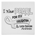 I Wear Pearl For My Daughter 42 Lung Cancer Poster
