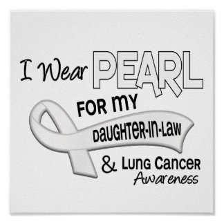 I Wear Pearl For My Daughter-In-Law 42 Lung Cancer Posters