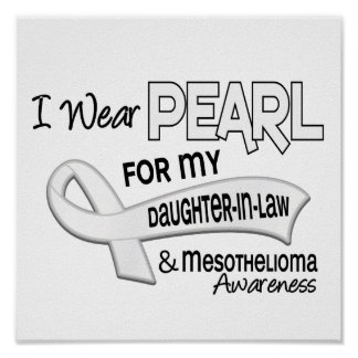 I Wear Pearl For My Daughter-In-Law 42 Mesotheliom Poster