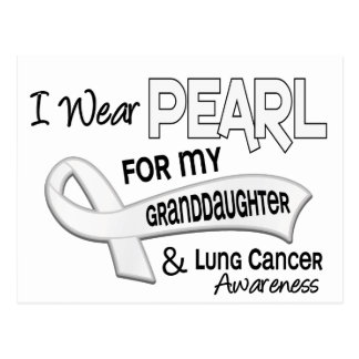 I Wear Pearl For My Granddaughter 42 Lung Cancer Postcard