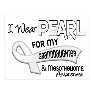 I Wear Pearl For My Granddaughter 42 Mesothelioma Postcard