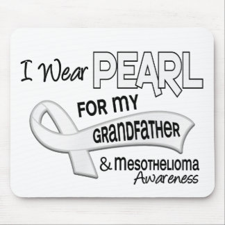 I Wear Pearl For My Grandfather 42 Mesothelioma Mouse Pad