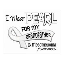 I Wear Pearl For My Grandfather 42 Mesothelioma Postcard
