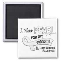 I Wear Pearl For My Grandma 42 Lung Cancer Magnet