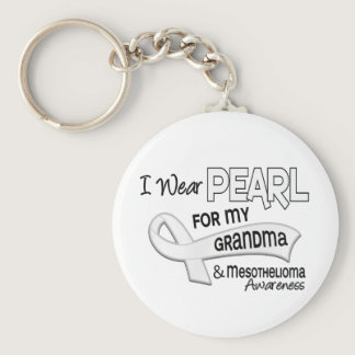 I Wear Pearl For My Grandma 42 Mesothelioma Keychain