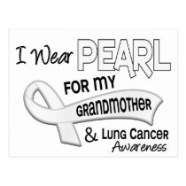 I Wear Pearl For My Grandmother 42 Lung Cancer Postcard