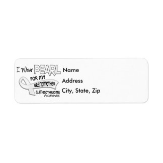 I Wear Pearl For My Grandmother 42 Mesothelioma Return Address Label