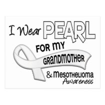 I Wear Pearl For My Grandmother 42 Mesothelioma Postcard