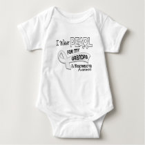 I Wear Pearl For My Grandpa 42 Mesothelioma Baby Bodysuit