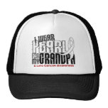 I Wear Pearl For My Grandpa 6 Lung Cancer Trucker Hat