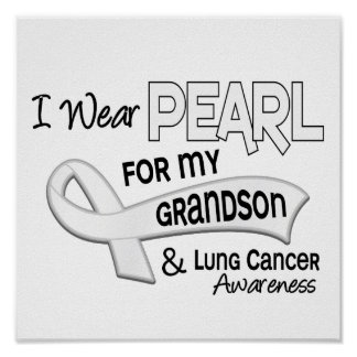 I Wear Pearl For My Grandson 42 Lung Cancer Print