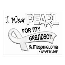 I Wear Pearl For My Grandson 42 Mesothelioma Postcard