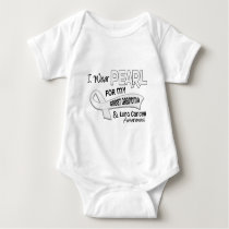 I Wear Pearl For My Great Grandma 42 Lung Cancer Baby Bodysuit