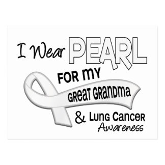 I Wear Pearl For My Great Grandma 42 Lung Cancer Postcard