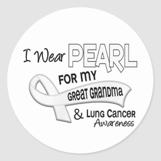 I Wear Pearl For My Great Grandma 42 Lung Cancer Sticker