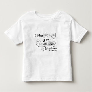 I Wear Pearl For My Great Grandma 42 Lung Cancer Toddler T-shirt