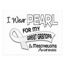 I Wear Pearl For My Great Grandpa 42 Mesothelioma Postcard