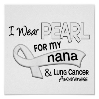 I Wear Pearl For My Nana 42 Lung Cancer Poster