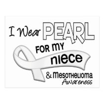 I Wear Pearl For My Niece 42 Mesothelioma Postcard