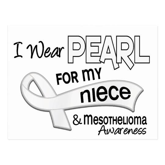 I Wear Pearl For My Niece 42 Mesothelioma Postcard