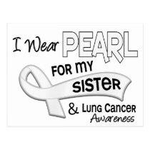 I Wear Pearl For My Sister 42 Lung Cancer Postcard