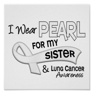 I Wear Pearl For My Sister 42 Lung Cancer Poster