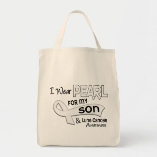 I Wear Pearl For My Son 42 Lung Cancer Tote Bag
