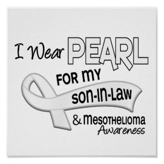 I Wear Pearl For My Son-In-Law 42 Mesothelioma Print