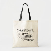 I Wear Pearl For My Stepbrother 42 Mesothelioma Tote Bag