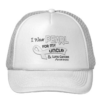 I Wear Pearl For My Uncle 42 Lung Cancer Trucker Hat