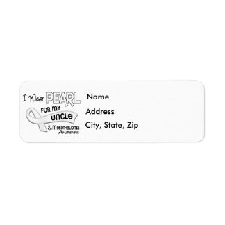 I Wear Pearl For My Uncle 42 Mesothelioma Custom Return Address Labels
