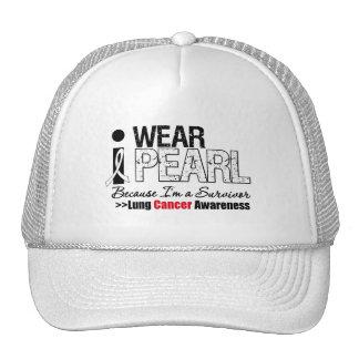I Wear Pearl Ribbon Because I'm a Survivor Trucker Hat