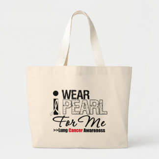 I Wear Pearl Ribbon For Me Canvas Bag