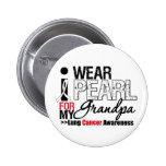 I Wear Pearl Ribbon For My Grandpa Button