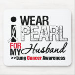 I Wear Pearl Ribbon For My Husband Mouse Mat