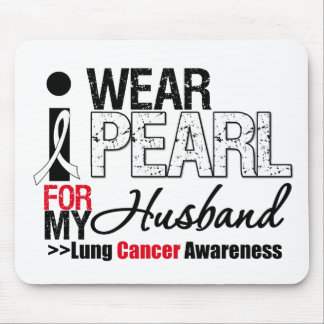 I Wear Pearl Ribbon For My Husband Mouse Pad