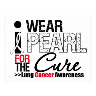 I Wear Pearl Ribbon For The Cure Postcard