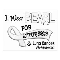 I Wear Pearl Someone Special 42 Lung Cancer Postcard